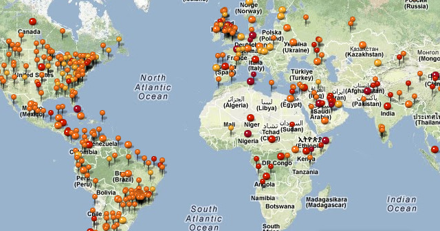 Mapa Mundial de Alertas por Enfermedades