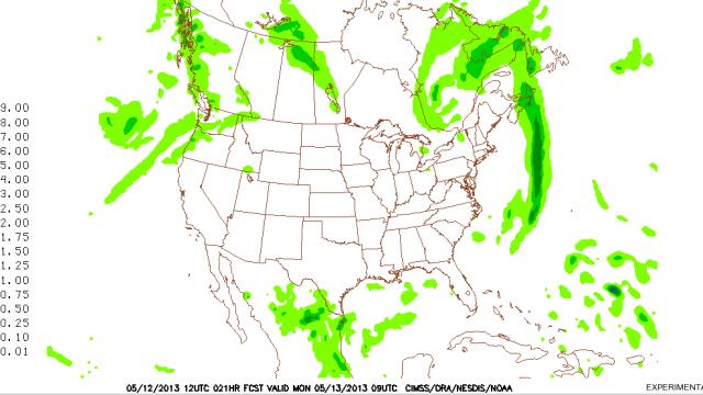 Pronóstico de Precipitaciones en EE.UU. a Cuarto Días