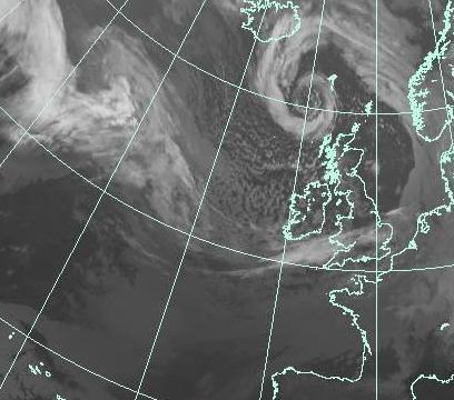 Animación De Satélite con infrarojos de las últimas 24 horas en europa