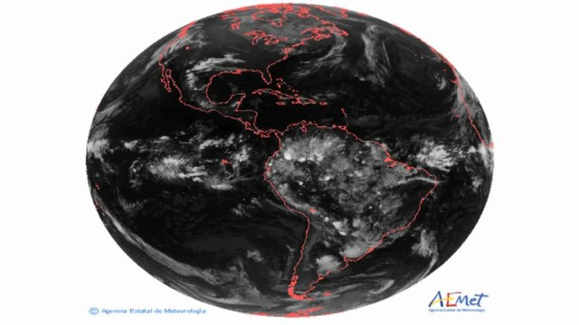 Animación de satélite globo completo (Oeste)