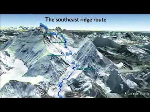 Rutas de escalada al Monte Everest