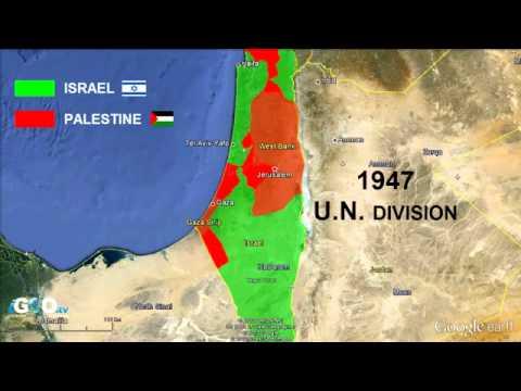 Evolución de las áreas bajo control de Palestina e Israel