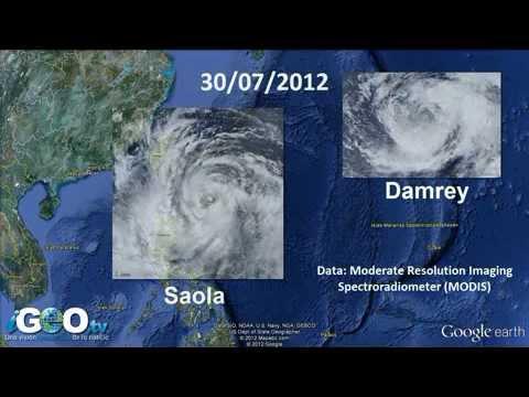 Los tifones Saola, Damrey y Haikui destruiyen el sudeste de Asia
