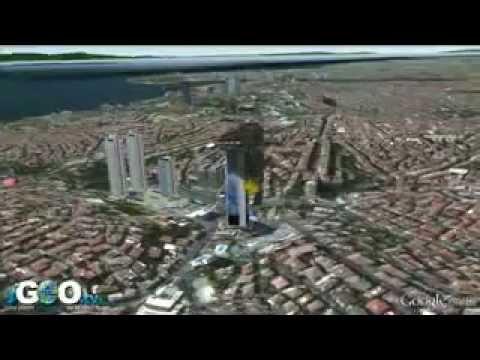Incendio en la Torre Polat  en Estambul