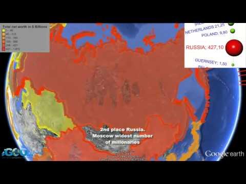 El mapa mundial de los millonarios