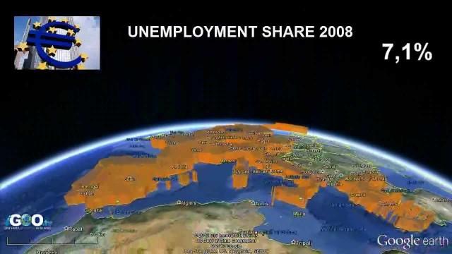 Tasas desempleo en Europa 2012