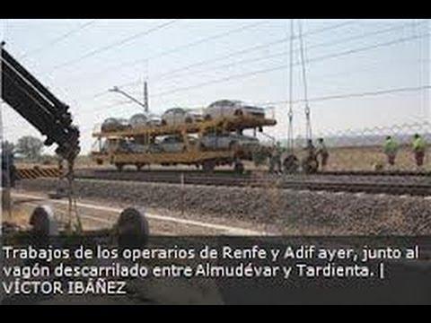 Descarrilamiento de un tren de carga en Huesca