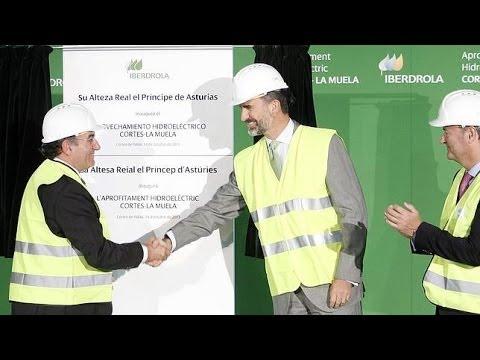 El Príncipe Inaugura la Mayor Central Hidroeléctrica de Europa. La Muela II
