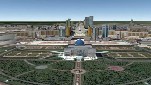 Palacio Presidencial Akorda en Astana – Footage