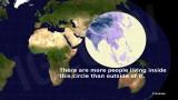 El circulo Más Poblado del Planeta. ¿Dónde está el 60% de la población mundial?