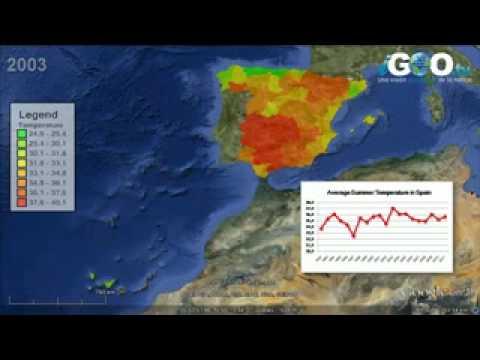 Variación de la Temperatura en España durante los meses de verano