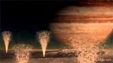 Géisers en una luna de Júpiter
