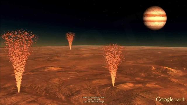 Impresionantes Geisers de arena en Marte