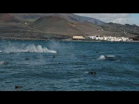 Magma submarino en la isla del Hierro