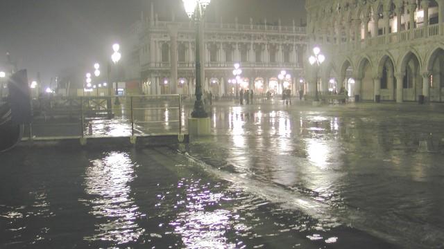 Venecia. Acqua Alta. Inundación