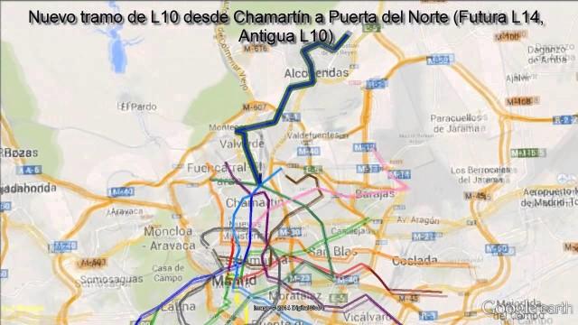 Futuras Ampliaciones del Metro de Madrid 2016
