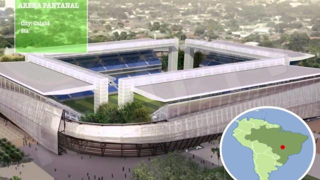 Estadios Mundial Fútbol Brasil 2014