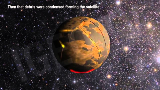 ¿Cómo se formó la luna?