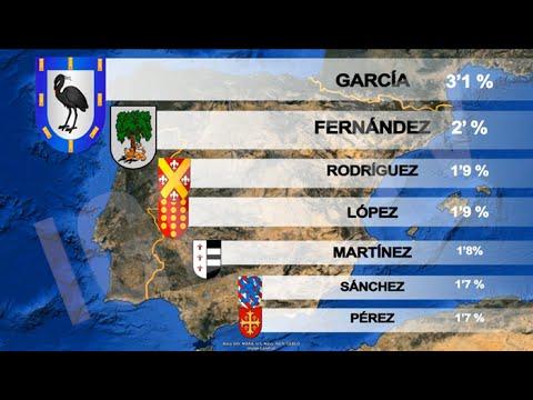 Apellidos más comunes en España